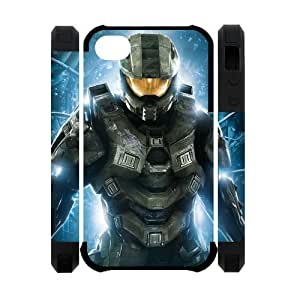 Master Chief Halo iPhone 4 4s Case Game Theme Case Cover Fits iPhone 4 4s hjbrhga1544