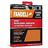 """Fandeli 36009 Coarse Grit Wood Sandpaper Sheets, 9"""" by 11"""", 25-Sheet"""