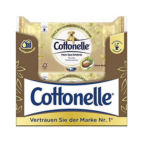 Cottonelle Moist Toilet Tissues 42Sheets per My Spa Experience with Seah Butter (Pack of 12)