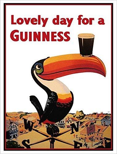 - Buyartforless Guinness Beer Lovely Day Toucan on Weather-Vane 36x24 GICLEE Advertising Art Print Poster Irish Stout Brew
