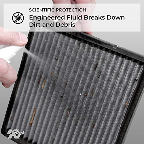K&N Cabin Air Filter Cleaning Kit: Spray Bottle Filter Cleaner and Refresher Kit; Restores Cabin Air Filter Performance; Service Kit-99-6000