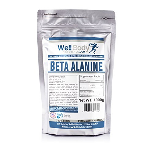 WellBodyNaturals 100% Pure Beta Alanine Powder ( 1000 grams )