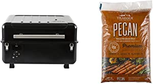 Traeger Grills Ranger Grill TBT18KLD Wood Pellet Grill and Smoker Black & Grills PEL314 Pecan 100% All-Natural Hardwood Pellets Grill, Smoke, Bake, Roast, Braise and BBQ, 20 lb. Bag