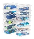 IRIS USA CNL-6 6 Quart Clear Storage Box, 12 Piece