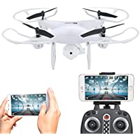 RC Drone with Camera, Kingtoys Quadcopter Drone ,FPV RC Drone ,2.4GHz 4CH 6-Axis Gyro Quadcopter with Altitude Hold, Gravity Sensor and Headless Mode RTF Helicopter