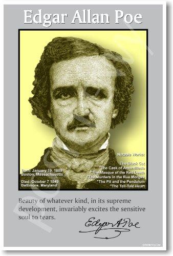 Edgar Allan Poe - American Author - Classroom Poster