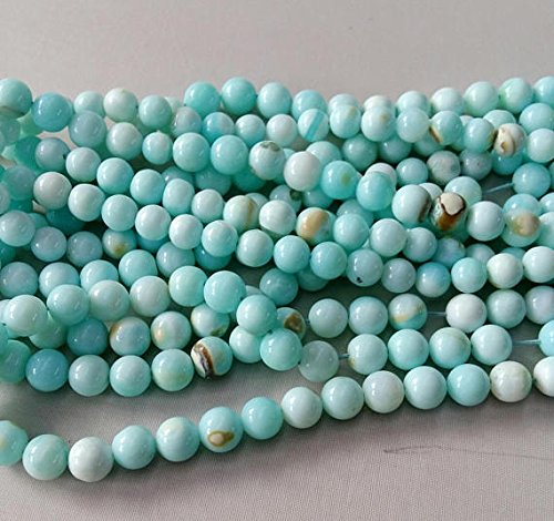 Natural PERUVIAN OPAL smooth round beads,Balls beads,sky blue color smooth balls beads, good quality, 7 mm -- 8 mm approx,16