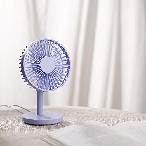JiaMeng Mini Ventilador Silencioso Pequeño y Potente Ventilador de Escritorio Protable USB Mini Ventilador eléctrico Mesa Ventilador 3 velocidades Ajustable ...