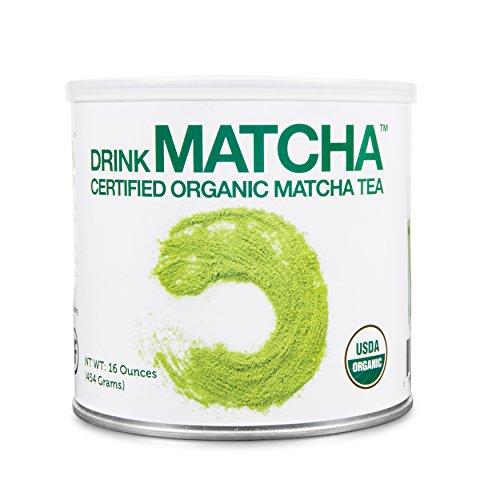 (DrinkMatcha - Matcha Green Tea Powder - USDA Organic - 100% Pure Matcha Green tea Powder - Nothing added (16 Ounce tin))