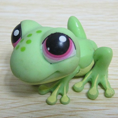 Hasbro-Littlest-Pet-Shop-Collection-LPS-Loose-Toys-Jungle-Green-Frog-Pink-Eyes