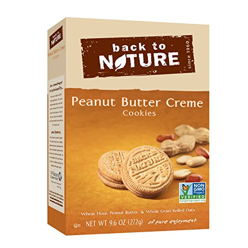 Back to Nature Non-GMO Peanut Butter Creme Cookies, 9.6 Ounce ()