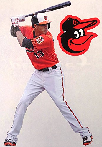 Baltimore Orioles Logo Wall Graphic (Manny Machado FATHEAD + Baltimore Orioles Logo Official MLB Vinyl Wall Graphics 7