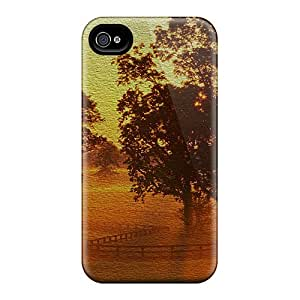 High Quality NhT262-BrO Beautiful Nature Tpu Case For Iphone 4/4s