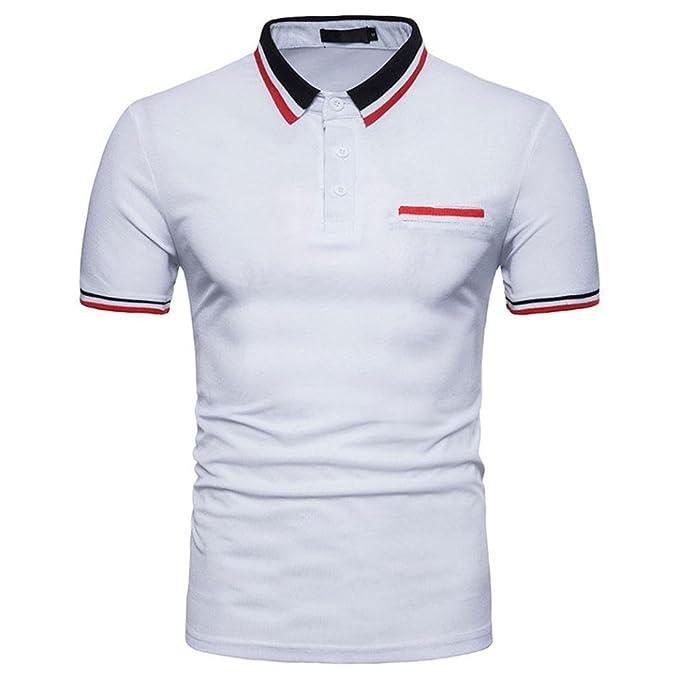 e276324f8e65 Maglietta da Uomo,Yesmile Polo Uomini Camicetta Camicia Camicetta in Cotone  Felpe Hoodie Uomo&#