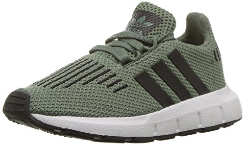 adidas Originals Boys' Swift Running Shoe, Trace Green/Black