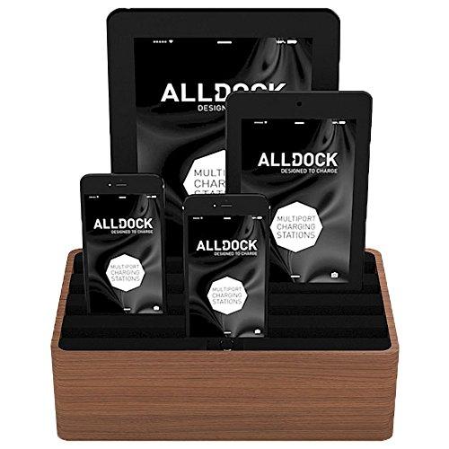 Medium Walnut Base with Black Top (Walnut / Black) by ALLDOCK