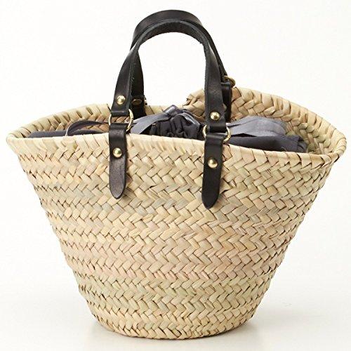e6719eb77cc4 Amazon | ペルケ(perche') モロッコカゴバッグセットイタリア製ハラコタイプ刺繍トートバッグ小【グレー/**】 | カゴバッグ