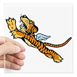 CafePress The Flying Tigers Square Sticker 3' X 3 Square Bumper Sticker Car Decal, 3'x3' (Small) or 5'x5' (Large)