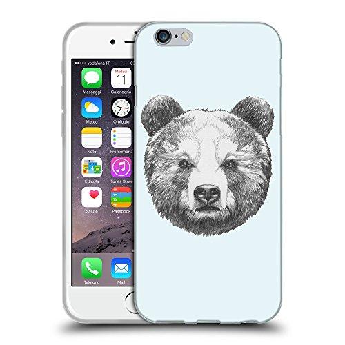 """GoGoMobile Coque de Protection TPU Silicone Case pour // Q05350619 Ours portrait Bulles // Apple iPhone 6 4.7"""""""