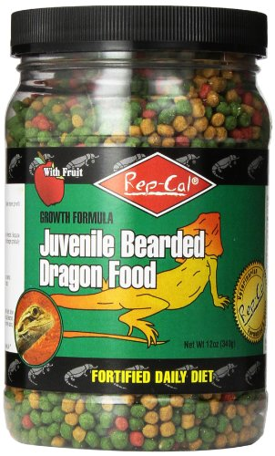 - Rep-Cal SRP00813 Juvenile Bearded Dragon Pet Food, 12-Ounce