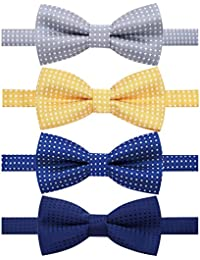 dd36477647a3 4 Packs Adjustable Pre-tied Bow Tie for Infant baby boys Toddler Child Kids  in