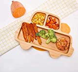 Bamboo Baby Toddler Suction Plate, Stay Put Feeding Dinner Dish