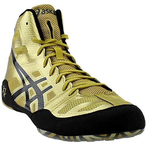 b75cd748789 ASICS Men's JB Elite Wrestling Shoe,Olympic Gold/Black/White,14 M US/49 EU