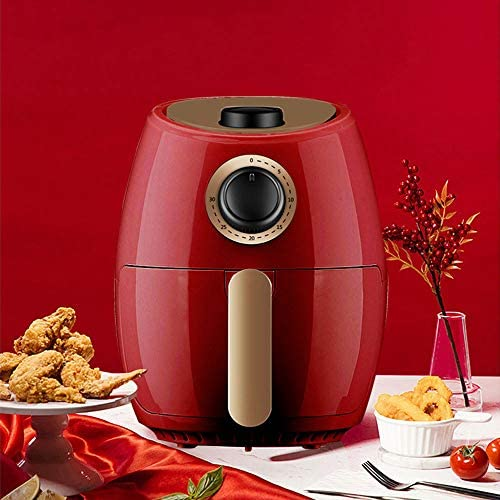 POWER BANKS Electric Air Fryer Smokeless Herd mit Temperaturregelung Fryer Ofen mit Antihaft-Basket Vortex Oilless für Französisch Fries Baking Frying 1000w 2.0L