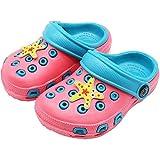 eccbox Toddler Little Kids Clogs Cute Lightweight Garden Shoes Non-Slip Boys Girls Slide Sandals Summer Beach Water Shower Pool Slippers (6-6.5 M US Toddler, Pink)