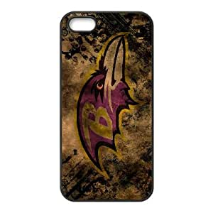 iPhone 5, 5S Phone Case Sports NFL Baltimore Ravens Protective Cell Phone Cases Cover DFL613635