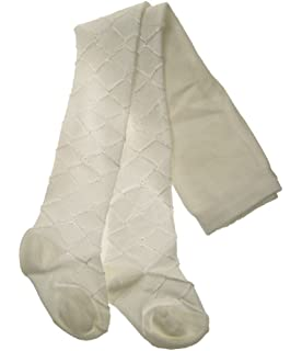 12-18 MONTHS, IVORY NOTTINGHAM LACE GIRLS TIGHTS IVORY//WHITE NEWBORN UP TO 18-24 MONTHS