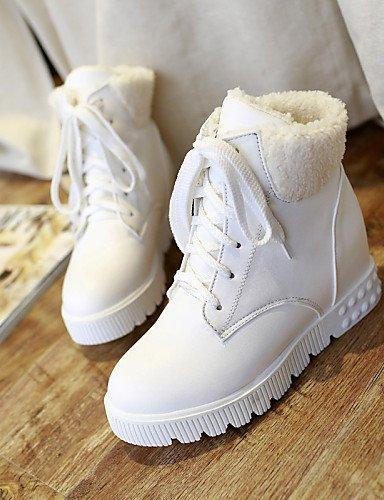 Mujer Semicuero Blanco Plataforma 5 us10 Uk6 us8 Botas De Moto Redonda Cn43 White Eu39 Negro Casual Zapatos Cn39 White Xzz Uk8 Vestido Eu42 Punta 5 7tvwEZq