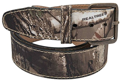 RealTree Camo Men's Camouflage Belt Leather Lining, Realt...