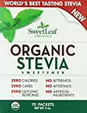 SweetLeaf Organic Stevia Sweetener, 70 Packets (Pack of 12)