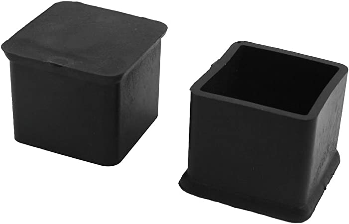 uxcell Rubber Square Pad Furniture Chair Feet Protector 25mmx25mm 2Pcs Black