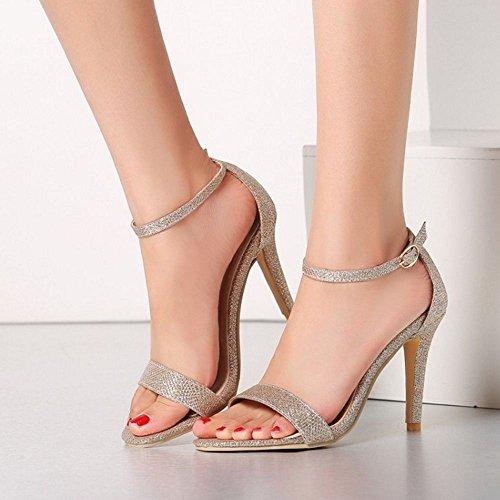 Open Women High Heel Western Toe Or Strap Ankle Stiletto Sandals TAOFFEN fFSdXqX
