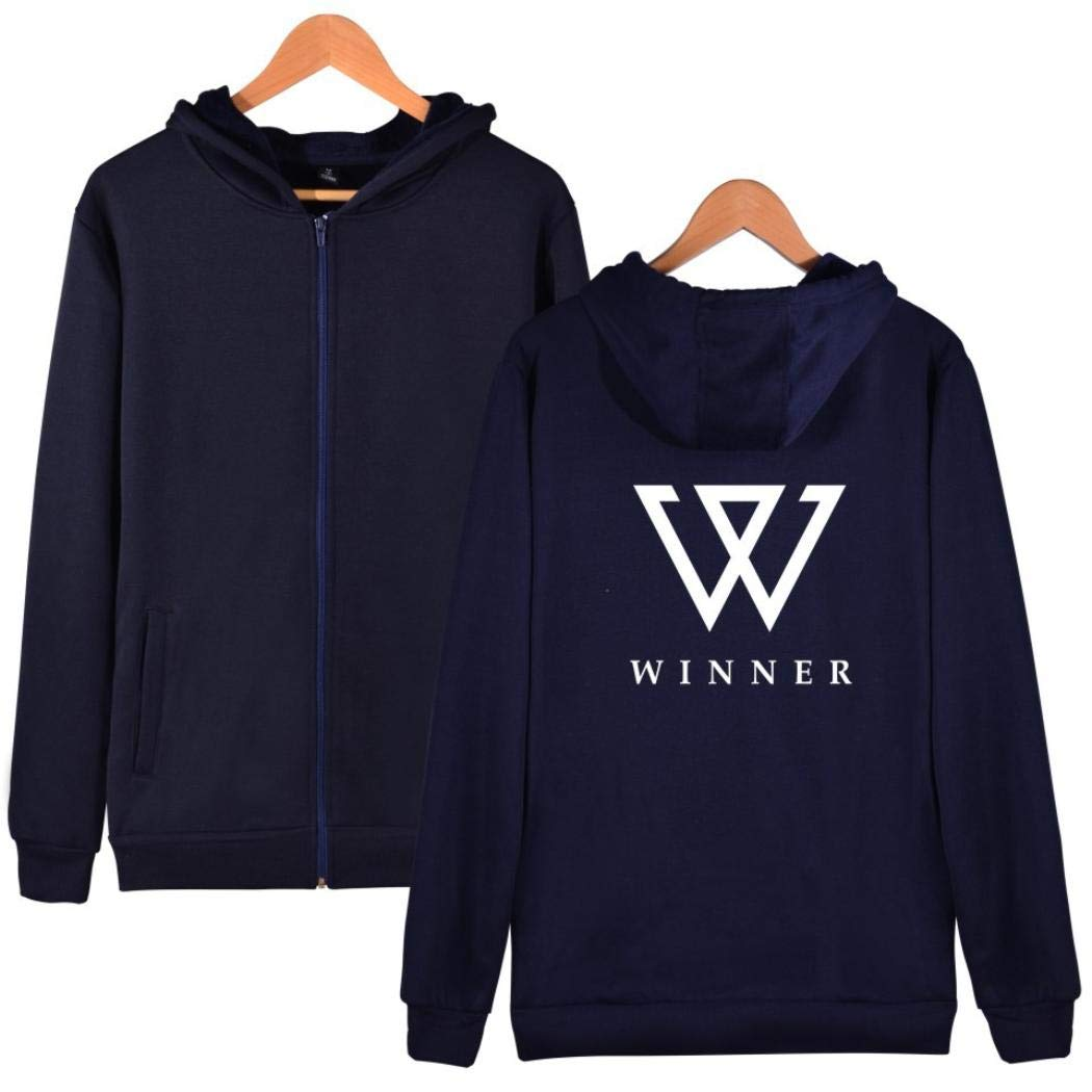 Hoodie Sweatshirt Women Men Winner Kpop Zipper Jacket Win Printed Coat