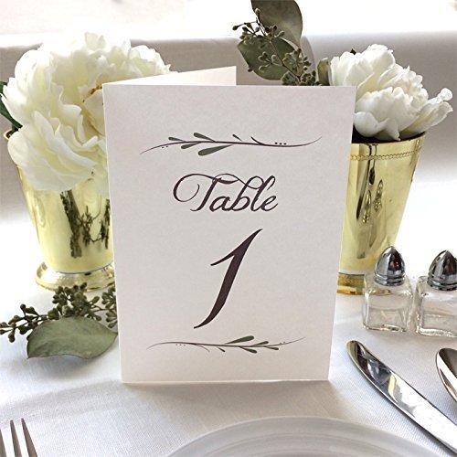Table Numbers Wedding.Amazon Com Wedding Table Numbers 4x6 White Folded Wedding