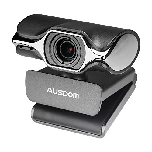 USB Webcam, AUSDOM AW620 High Definition HD 1080P Widescreen Network Desktop Laptop Computer Camera with Microphone for Skype Facetime Youtube Yahoo Messenger Whatsapp
