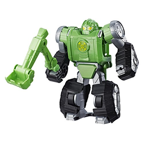 "Super Hero Adventures Transformers Rescue Bots: Converting Quick Dig Boulder 10"" Toy Ages 3 to 7"