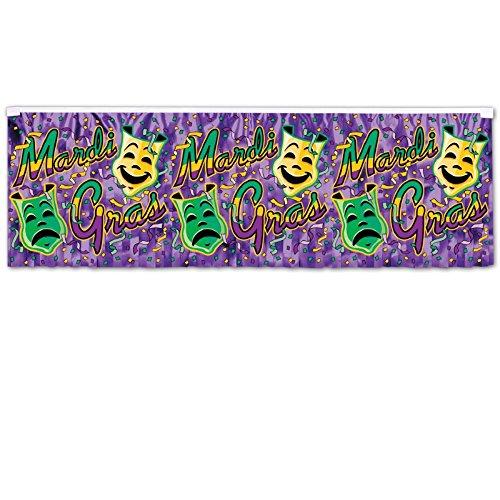 Metallic Mardi Gras Fringe Banner - Club Pack of 12 Metallic Purple, Green and Gold