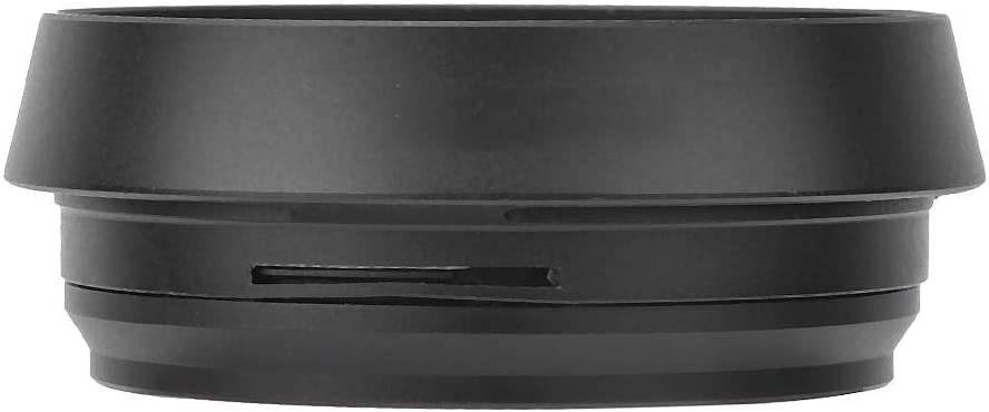 Mugast Lens Hood Metal Camera Lens Hood Mount Solid Lens Hood Replacement with Large Aperture for FUJIFILM X100 Cameras