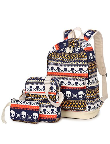 Leaper Cool Multi-Color School Backpack Set Bookbag Shoulder Bag Pencil Bag - Sunglasses It Text Deal With