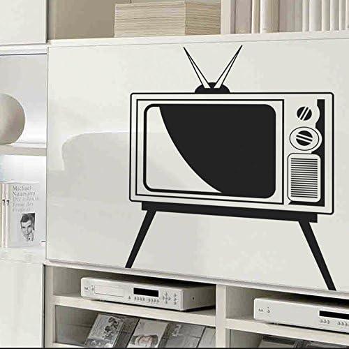 IDEAVINILO Vinilo Decorativo Televisor Vintage. Color Negro ...