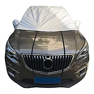 Tgg Premium Windshield Snow and Ice Cover & Sun Shade Protector Universal Fit for Most Cars and CRVS, Winter Protection Frost Cover Windscreen Ice and Snow Protector, Winter Ice Rain Frost Guard
