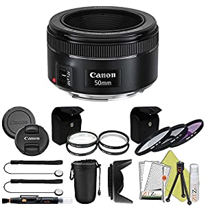 Canon EF 50mm f/1.8 STM Prime Lens ZeeTech Package