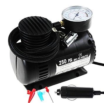 Amazon.es: 12 V 250 PSI 20.7bar Auto coche Mini Compresor Aire Compresor De Aire Comprimido Bomba de aire inflador Tool
