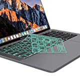 Kuzy Premium Ultra Thin Keyboard Cover Protector for NEWEST MacBook Pro with Touch Bar 13' or 15' (A1706 & A1707) Release 2017 & 2016 TPU Skin - MINT
