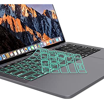 on sale 725c9 6515d Kuzy - MacBook Pro Keyboard Cover with Touch Bar 13 and 15 inch Premium  Ultra Thin TPU New 2019 2018 2017 2016 (Apple Model A1989 A1990 A1706  A1707) ...