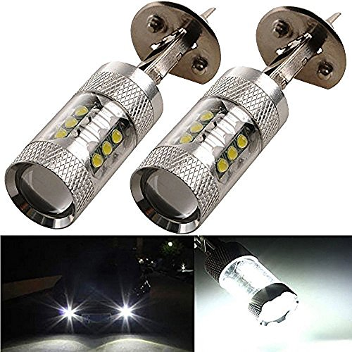 KATUR 80W 2X H1 LED Lamp Bulb DRL Daytime Running Light Bulb Car Led Headlights